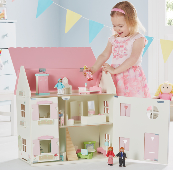 George Home Wooden Dolls House Large Furniture Set Toys