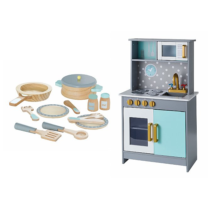 d8bbbd85285d Wooden Deluxe Kitchen and Cooking Set | Toys & Character | George