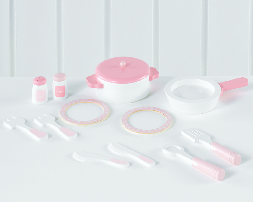 Pink Wooden Cooking Set Toys Character George