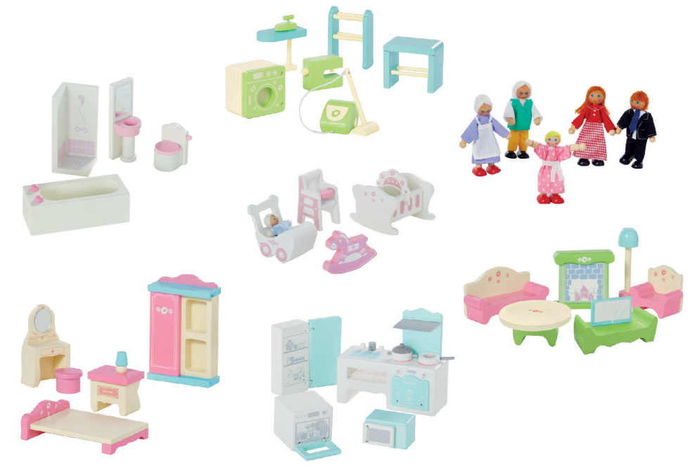 Large Dolls House Furniture Set Toys Character George