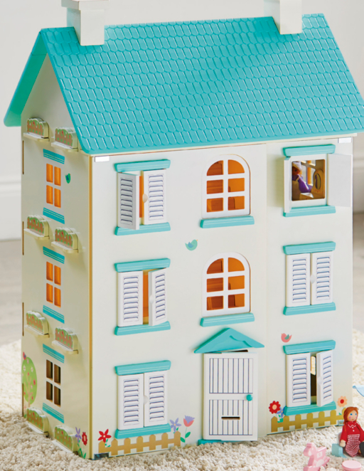 Wooden Light Up Dolls House Toys Character George