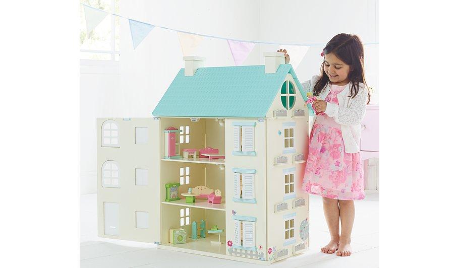Wooden Light Up Dolls House Hide Details