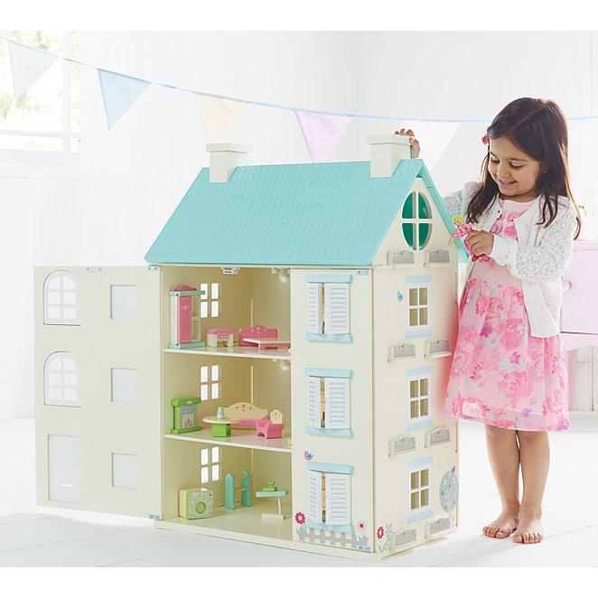 Wooden Light Up Dolls House