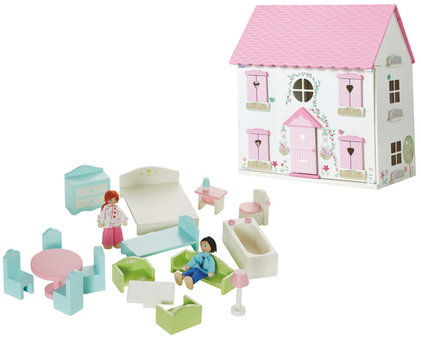 George Home Wooden Dolls House Furniture Set Toys Character