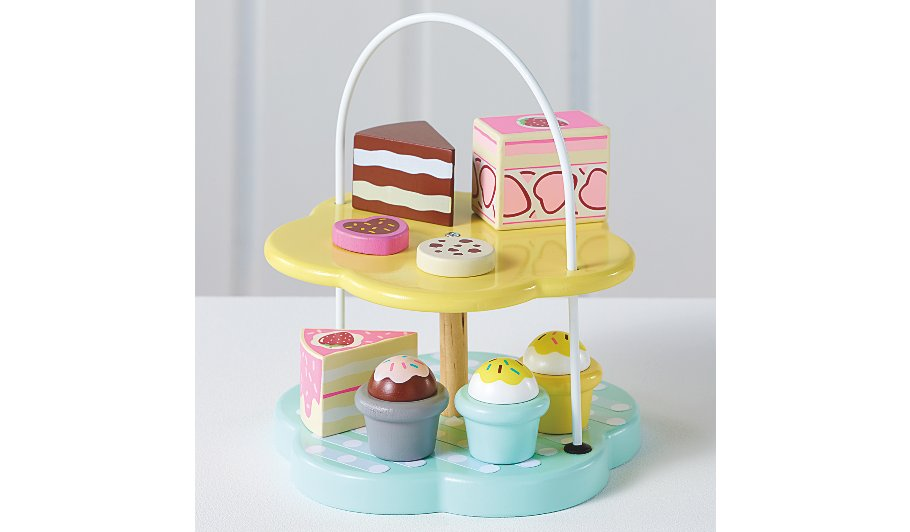 Wooden Play Cake Stand And Cakes Toys Character George