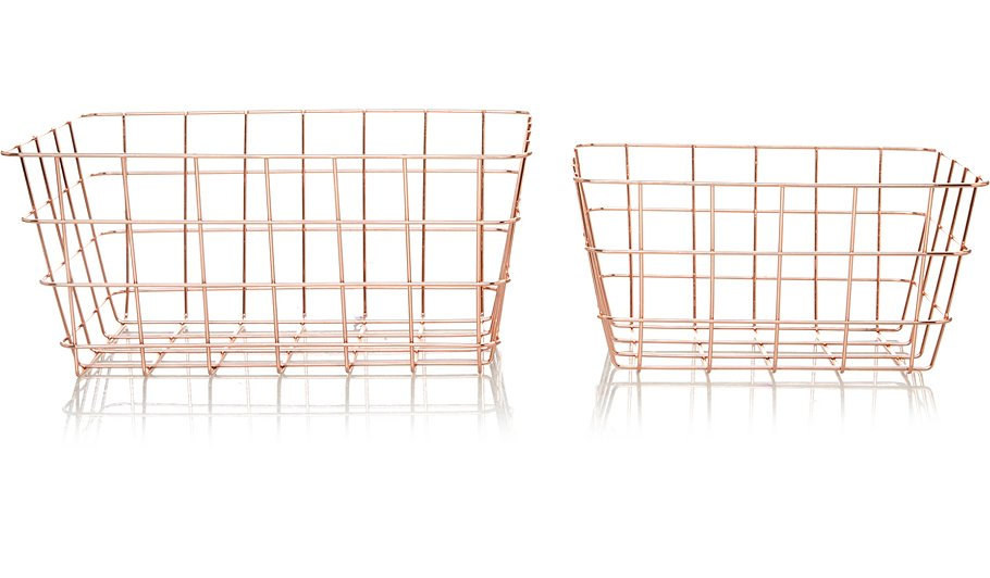 Copper Wire Storage Baskets - 2-pack | Home & Garden | George