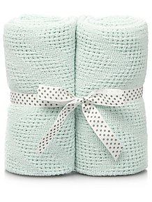 2913d727e94 Mint Cellular Baby Shawl 2 Pack