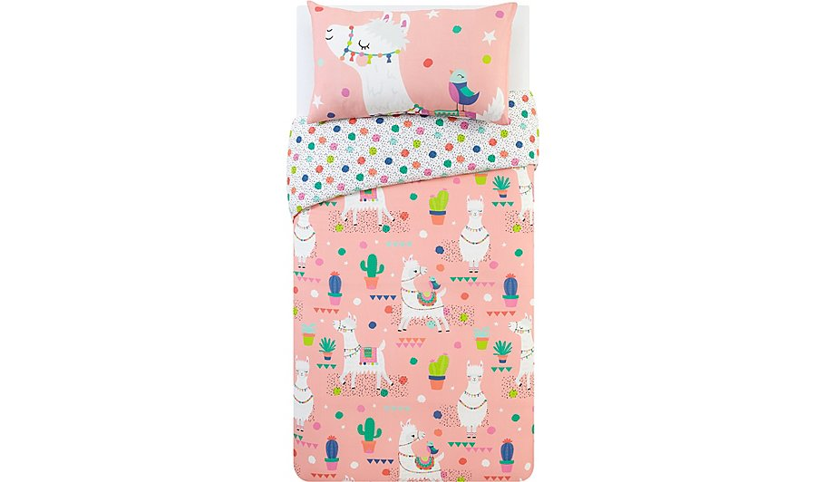 Pink Llama Lands Duvet Set | Home & Garden | George