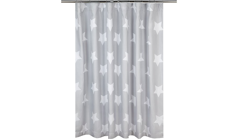 Grey Star Print Blackout Curtains - 66 x 54 inch