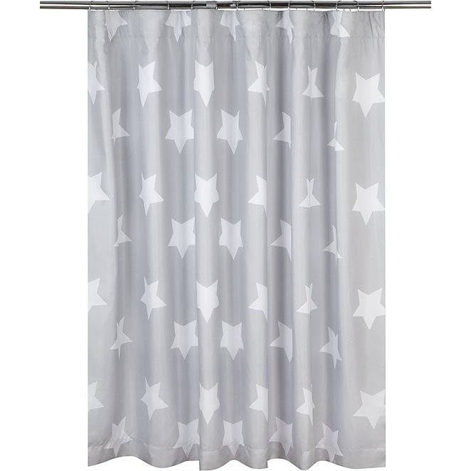 Grey Star Print Blackout Curtains 66 X 54 Inch Home Garden
