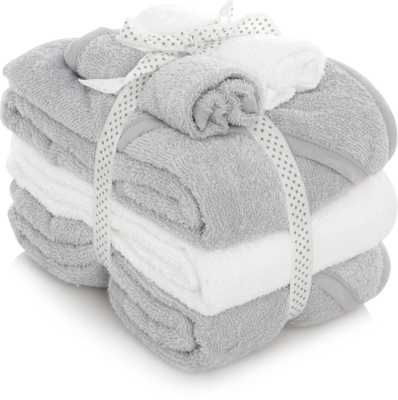 Grey and White Mixed Towel Bundle