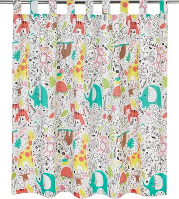 Jungle Tropics Curtains   66 X 54 Inch