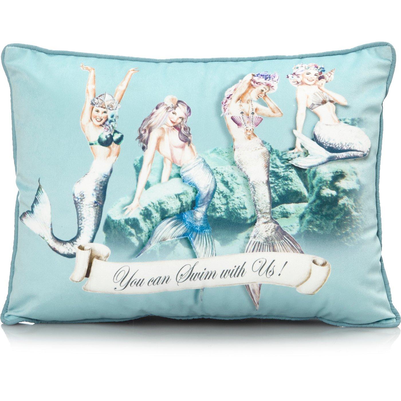 Mermaid Mini Cushion   Cushions   George at ASDA