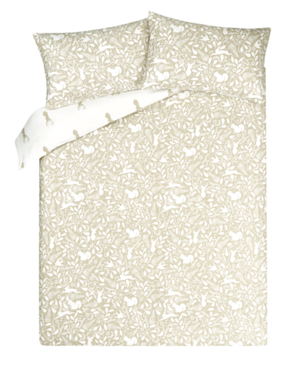Brushed Cotton Woodland Reversible Duvet Cover Home