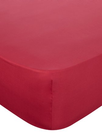 100% Cotton Fitted Sheet & Pillowcases Range - Red