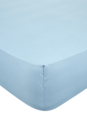 Light Blue Fitted Sheet