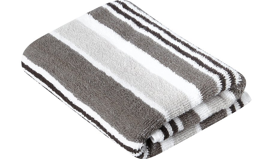 Striped Hand Towel Grey Home Garden George