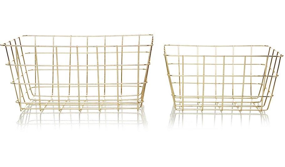 Gold Wire Storage Baskets - 2-pack | Home & Garden | George