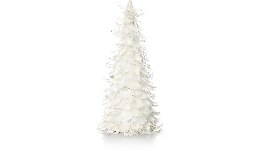 white feather tree table decoration - White Feather Christmas Tree
