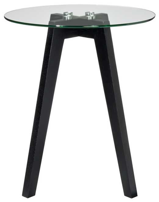 Winston Round Side Table Black Furniture George