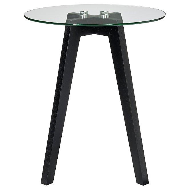 Winston Round Side Table Black Furniture George