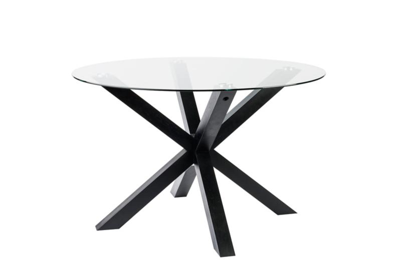 winston round dining table - black | furniture | george Black Round Dining Table