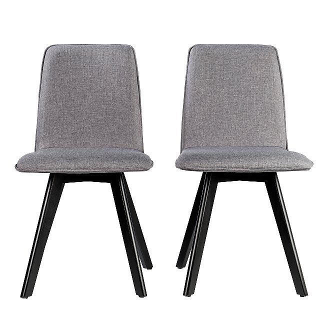 4d96f9aa6 Winston Upholstered Pair of Dining Chairs - Grey