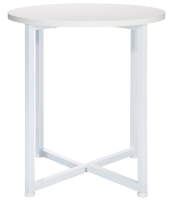 Irving Round Side Table   White. Reset