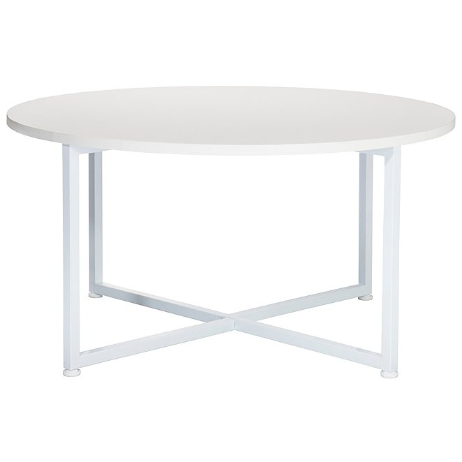 Irving Round Coffee Table White