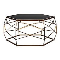 Gl Top Geometric Coffee Table