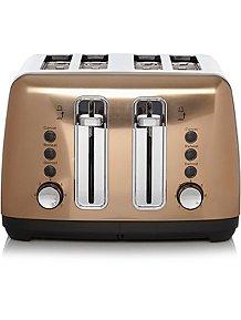 4 Slice Toaster Copper