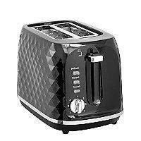Black Diamond Effect Toaster  2 Slice by Asda