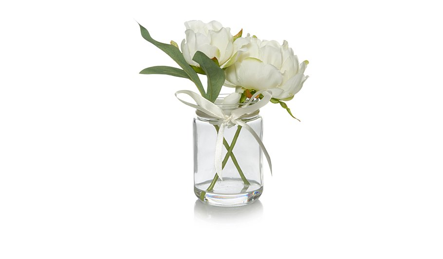 Artificial Peonies in Vase - Cream | Home & Garden | George