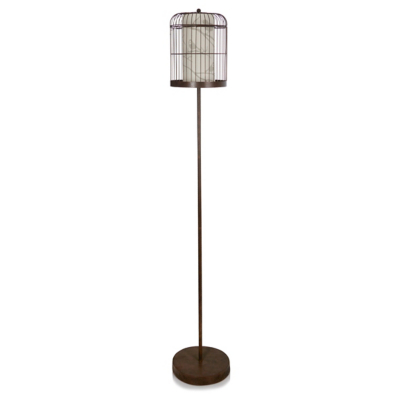 Lovely Metallic Birdcage Floor Lamp