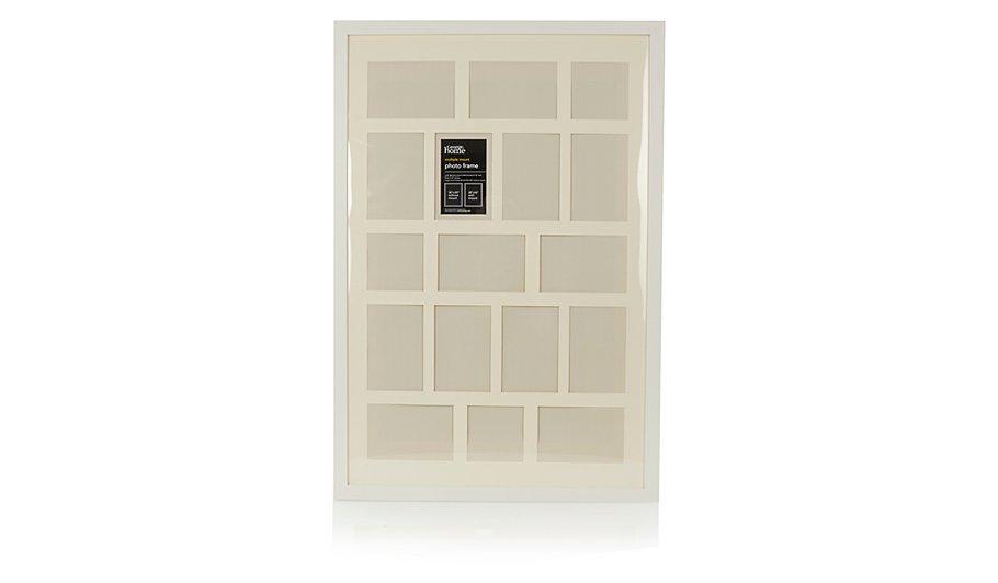 White Contemporary Multi Aperture Photo Frame   Home & Garden   George