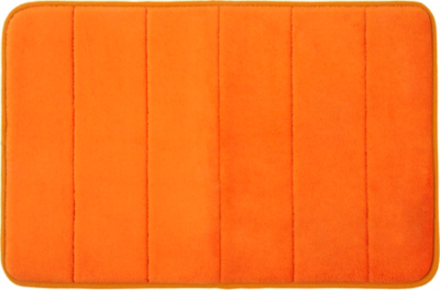 Memory Foam Bath Mat   Orange