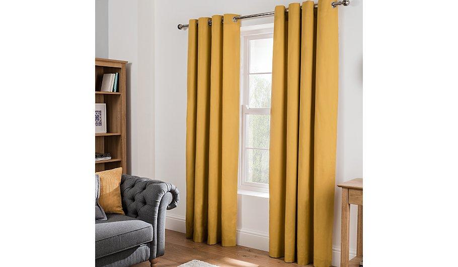 Plain Eyelet Curtains Honey Home Garden George