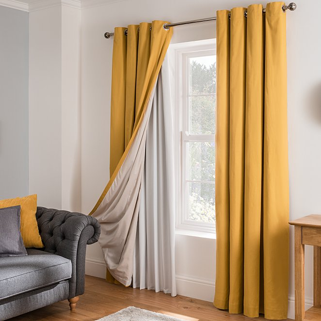 Blackout Curtain Lining White