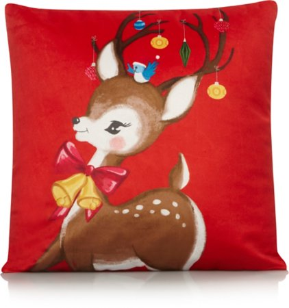 Reindeer Bauble Cushion