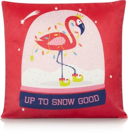 Flamingo Snow Globe Cushion