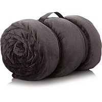Super Soft Extra Large Blanket   Charcoal by Asda