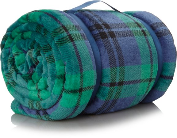 Tartan Supersoft Blanket - Green