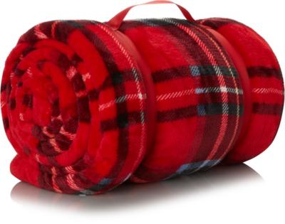 Tartan Super-Soft Blanket - Red