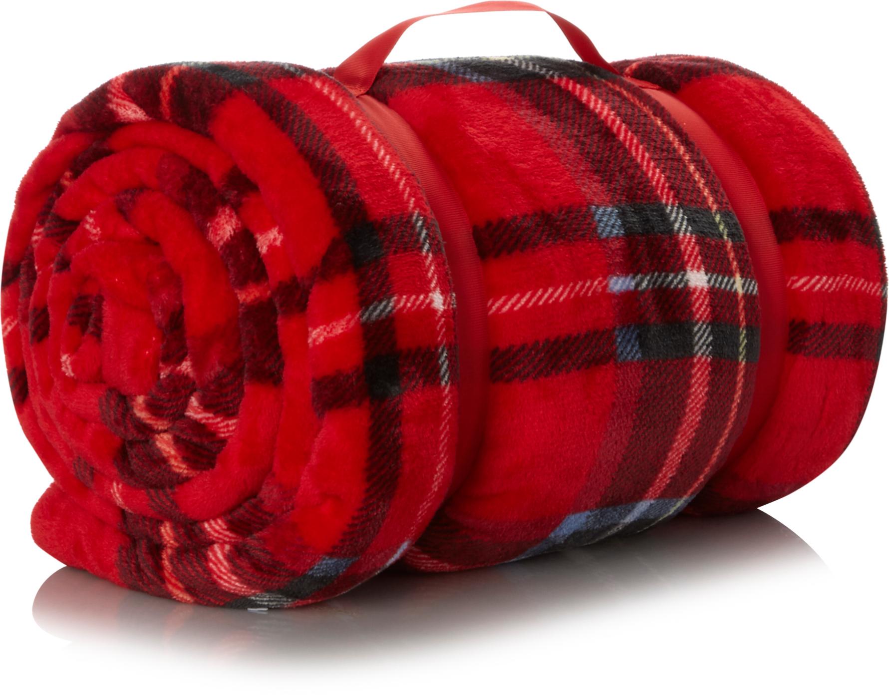 Tartan Supersoft Blanket Red Blankets & Throws
