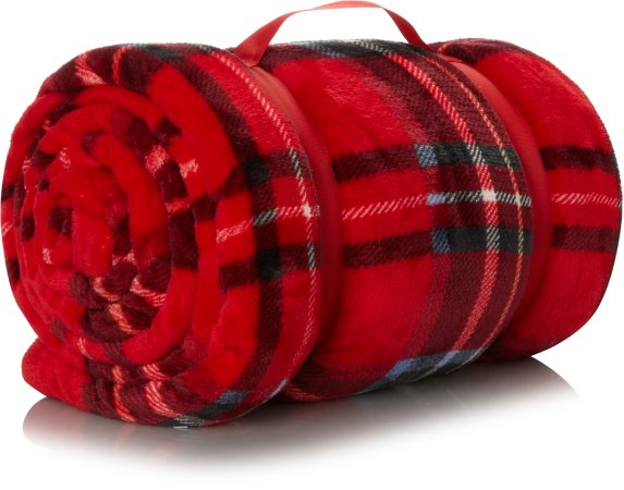 Tartan Supersoft Blanket - Red
