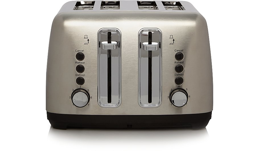 uk slice and silver amazon kitchen wide steel stainless co home toaster hobbs russell slot dp