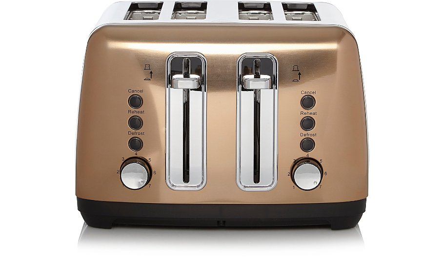 A golden toaster