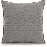 Grey Quilted Cushion