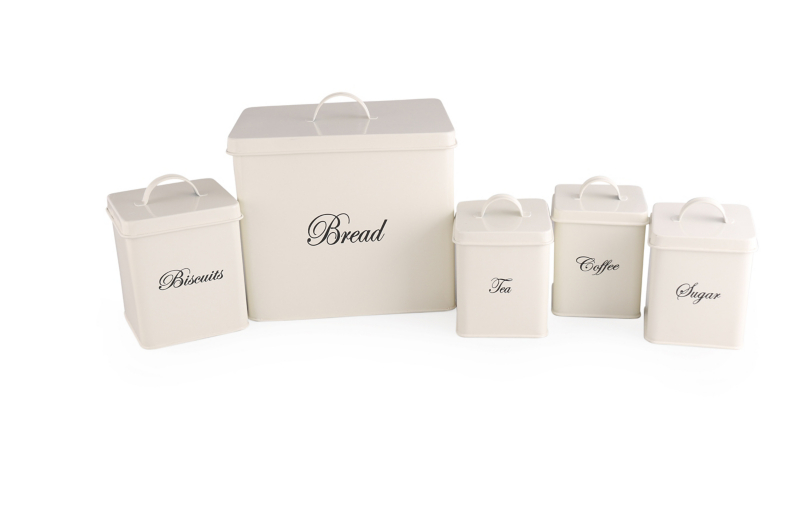 Cream Canister Set 5 piece Home Garden George