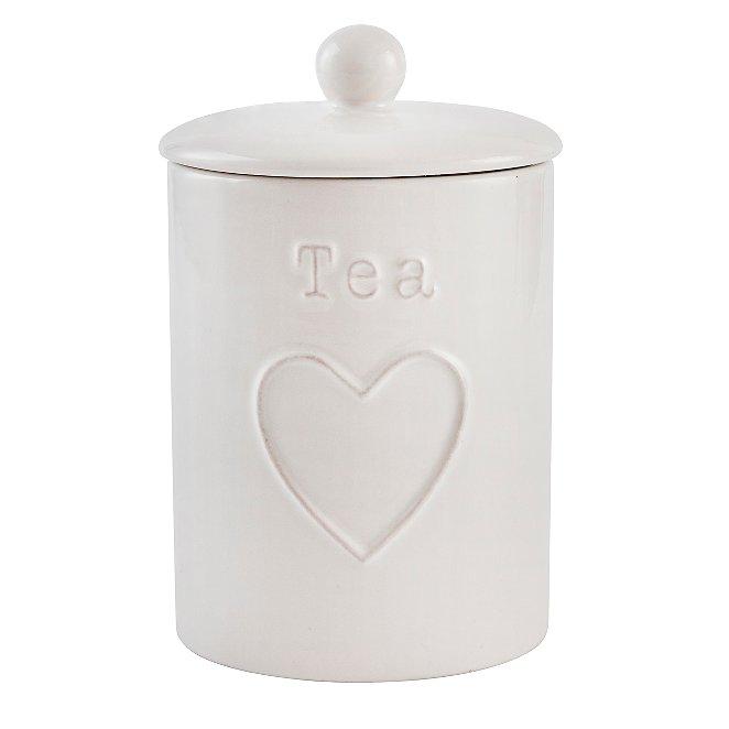 Ceramic Heart Tea Canister